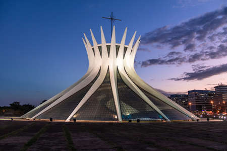 Brasilia Cathedral at night - Brasilia, Brazil
