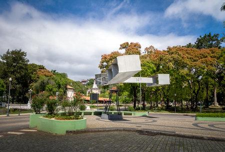 14 Bis Square monument to the first airplane of Santos Dumont - Petropolis, Rio de Janeiro, Brazil