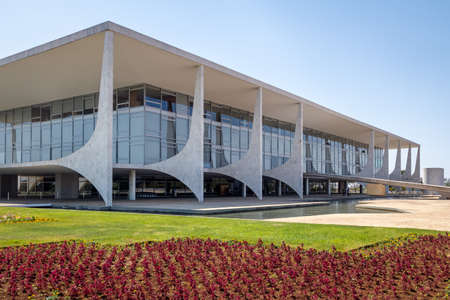 Planalto Palace the official workplace of the Brazilian President - Brasilia, Distrito Federal, Brazil