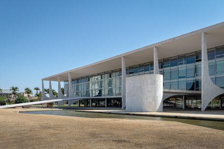 Palacio Planalto y el Parlatorium - Brasilia, Distrito Federal, Brasil