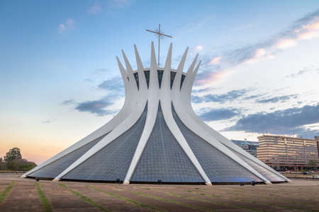 Brasilia Cathedral at sunset - Brasilia, Brazil Editorial