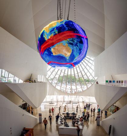 Entrance Hall at Museum of Tomorrow (Interior of the Museum of Tomorrow) - Rio de Janeiro, Brazil