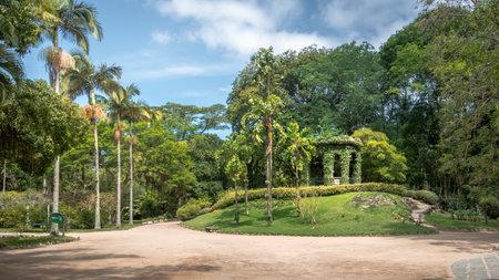 Rio de Janeiro, Brazil - Oct 29, 2017: Friar Leandro do Sacramento Memorial in honor of the first director of Jardim Botanico Botanical Garden - Rio de Janeiro, Brazil