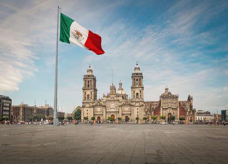 Place Zocalo et cathédrale de Mexico - Mexico, Mexique Banque d'images