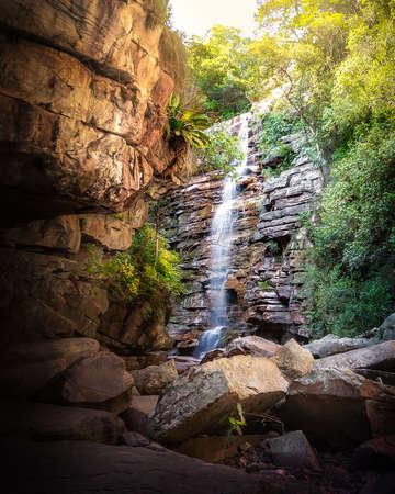 Mosquito Waterfall in Chapada Diamantina - Bahia, Brazil 写真素材