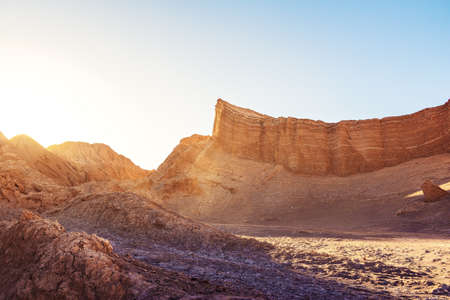 Amphitheatre formation at the Moon Valley - Atacama Desert, Chile