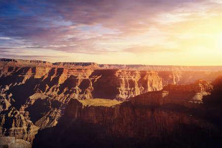 Grand Canyon West Rim at sunset - Arizona, USA 写真素材
