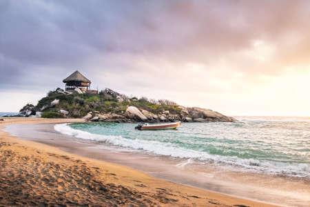Tropical Beach at Sunrise in Cape San Juan - Tayrona National Park, Colombia