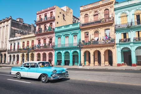 Old Havana downtown Street - Havana, Cuba 写真素材