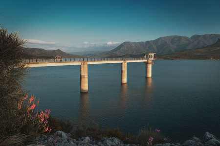 Zahara de la Sierra and El Gastor Dam at Guadalete River - Zahara de la Sierra, Cadiz Province, Andalusia, Spain