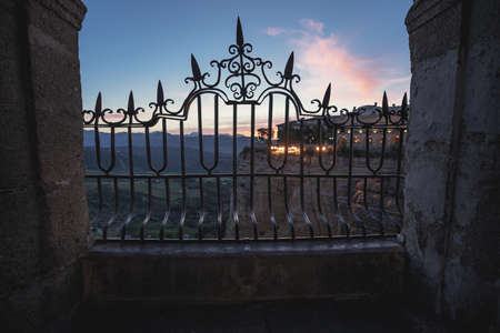 Puente Nuevo Bridge at sunrise - Ronda, Malaga Province, Andalusia, Spain