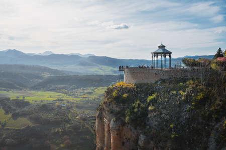Mirador de Ronda scenic viewpoint - Ronda, Malaga Province, Andalusia, Spain Stock fotó - 130145612