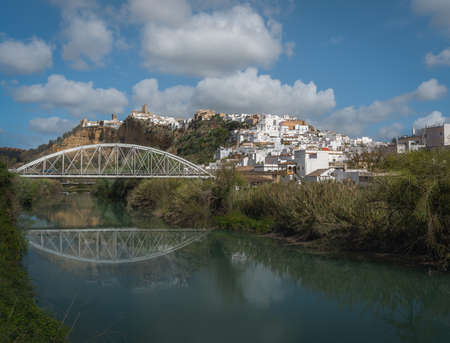 Arcos de la Frontera and Guadalete River -  Cadiz Province, Andalusia, Spain