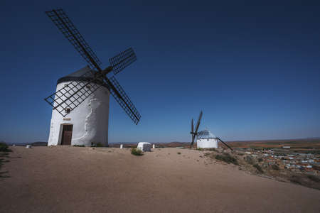Consuegra windmills of La Mancha, famous for Don Quixote stories - Toledo, Castila La Macha, Spain