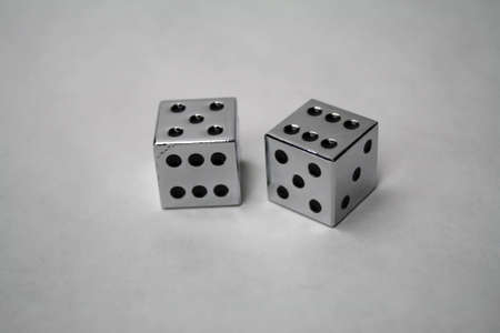 stell: pair of stainless stell dice