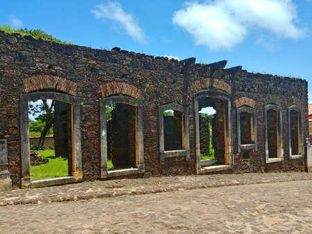 Ruins of the historic Brazilian city of âlcantara Stock Photo