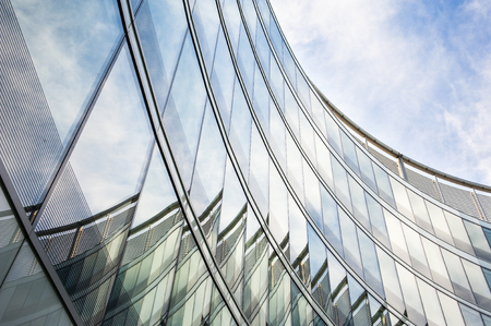 abstract building: Modern glass office building