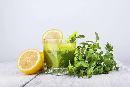 Parsley smoothie and ingredients Stock fotó