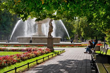 The Saxon Garden in Warsaw, Poland Sajtókép