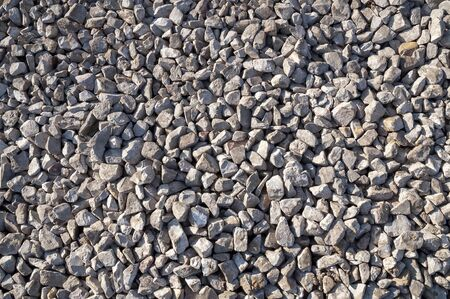 Closeup of crushed stones on a sunny day Banque d'images