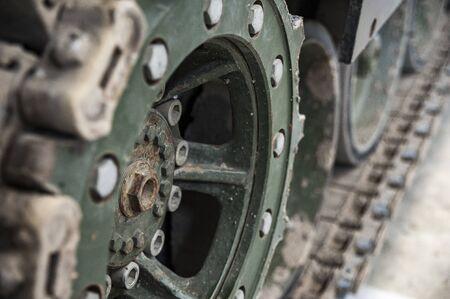 Closeup of tank caterpillar