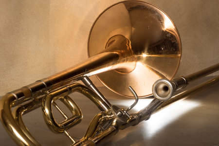trombone in the light
