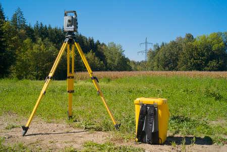 Surveying High Voltage Power Lines - Total Station in the Field