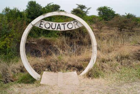 Equator Sign in Uganda 스톡 콘텐츠