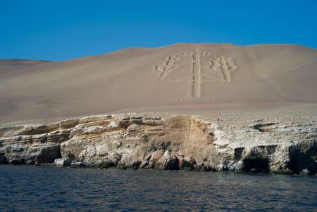 Geoglyph on the Islas Ballestas, off Peru