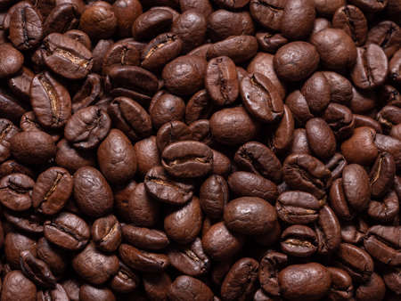 A Seamless Closeup of Freshly Roasted Brown Coffee Beans