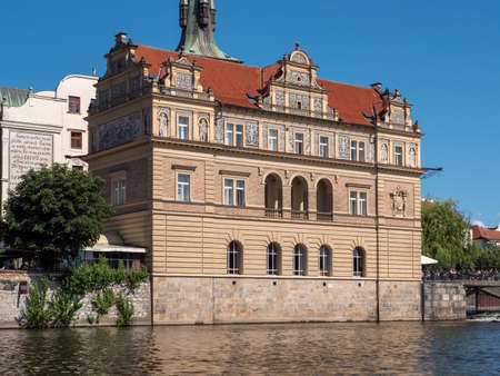 Prague, Czech Republic - June 8 2019: Museum Bedrich Smetana, dedicated to the famous composer, formerly the Old Town Water Station in Prague, Bohemia, Czech Republic Editorial