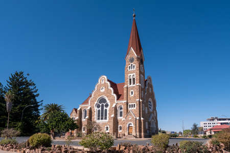 Christ Church, Lutheran Church in Windhoek, Namibia - Protestant, Colonial Style, German Church