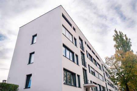 Stuttgart, Germany, October 15, 2019: Weissenhof Siedlung a.k.a. Weissenhof Estate Main Building by Mies van der Rohe in Stuttgart, Germany. Modernist International Style Residence Building buildt in 1927.