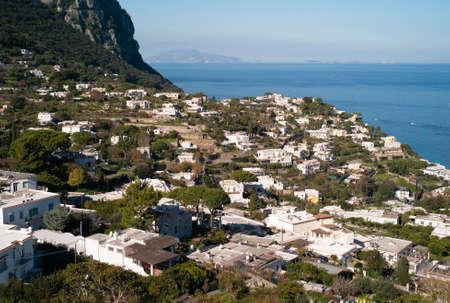 Capri Island - Overlooking a Residential Area near Marina Grande on Capri, Italy Zdjęcie Seryjne