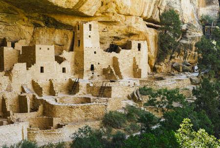 Cliff Palace in Mesa Verde National Park, Ruins of an Anasazi Pueblo, Unesco World Heritage Site
