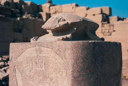 Granite Scarab Statue at Amon Temple of Karnak, Egypt - Ancient Egyptian Art
