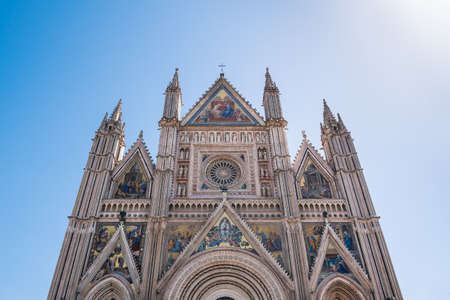 Orvieto Cathedral Exterior Facade, also called Duomo di Orvieto or Cattedrale di Santa Maria Assunta