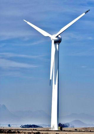 electricity generator: Experimental wind driven electricity generator Stock Photo