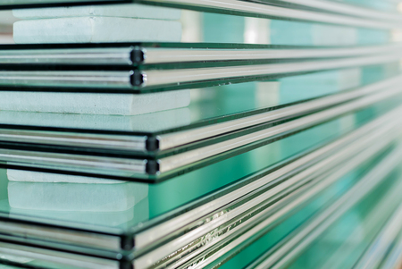 frosted glass: Sheets of Factory manufacturing tempered clear float glass panels cut to size