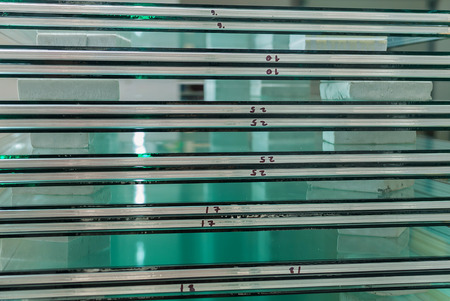 tempered: Sheets of Factory manufacturing tempered clear float glass panels cut to size