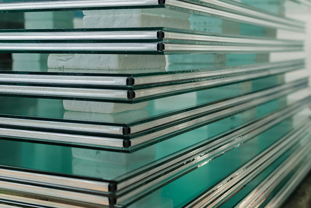 insulate: Sheets of Factory manufacturing tempered clear float glass panels cut to size