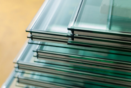 glass door: Sheets of Factory manufacturing tempered clear float glass panels cut to size
