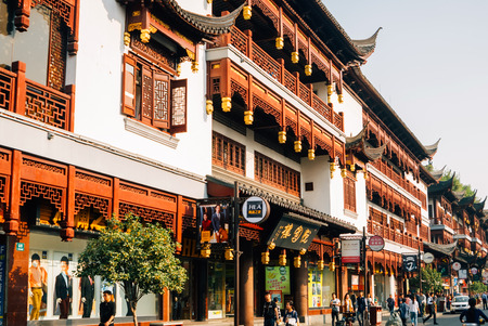Traditional commercial street of Shanghai