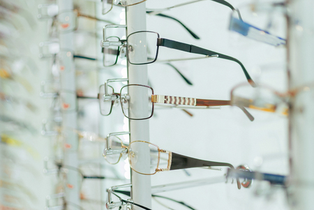 Stand with a large selection of glasses