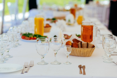 Preparation for a buffet table