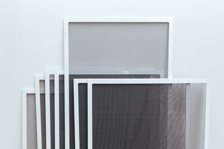 Mosquito Net Frames for PVC Windows. Insect mesh
