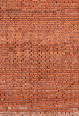 Red brickwall background. Vertical view Stock Photo