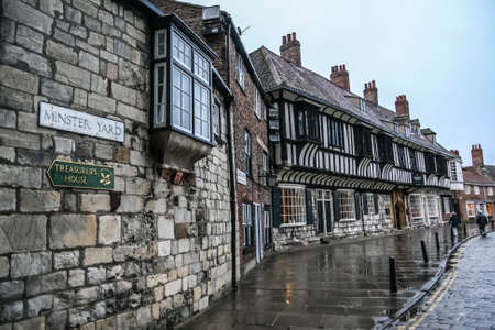 YorkEngland - June 12, 2011: Minster Yard in the City of York in North Yorkshire England Editorial
