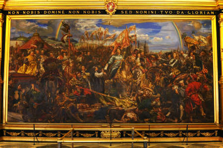 ROME,ITALY - JUNE 17,2011: Vatican Museum. Painting of king Jan Sobieski in Vienna during war with Turks. Painting by Jan Matejko.