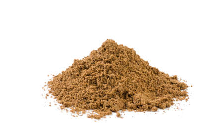 garam masala mix heap isolated on white background. front view Stock Photo